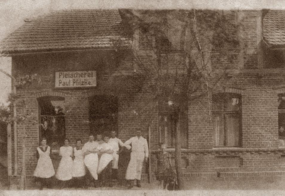 Fleischerei Goldbeck 1927
